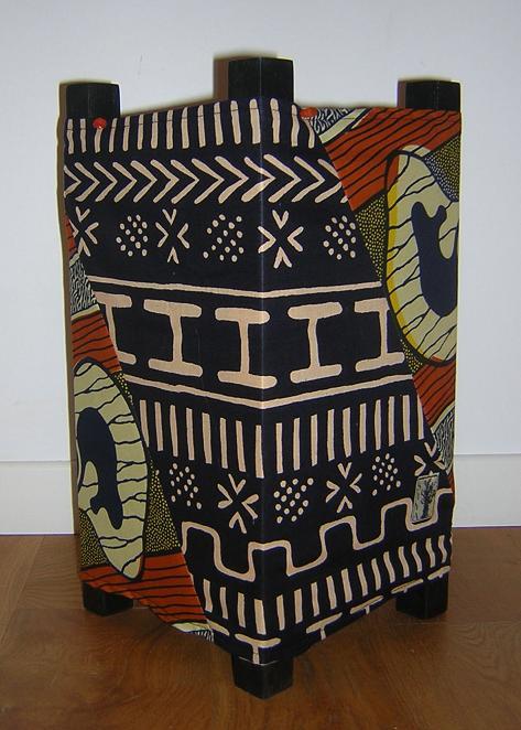 LAMPE SIYA tissu africain